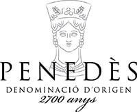 White wine Crowd Wine made under Penedes origin denomination standards.