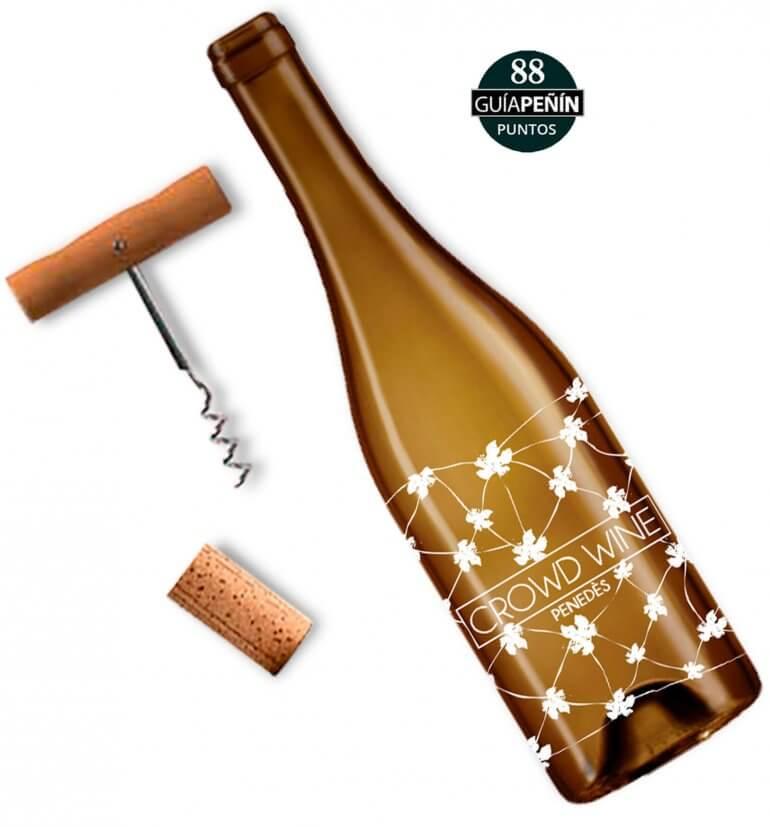 White wine Macabeu Crowd Wine Penedès by Premium White Wines